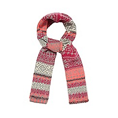 H! by Henry Holland - Pink Fair Isle scarf