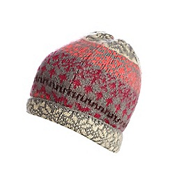 H! by Henry Holland - Multi Fair Isle beanie hat