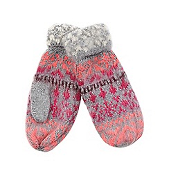 H! by Henry Holland - Multi Fair Isle mittens