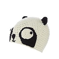H! by Henry Holland - Cream panda beanie hat