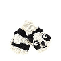 H! by Henry Holland - White panda hoodie gloves