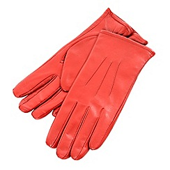 Isotoner - Red three point leather gloves