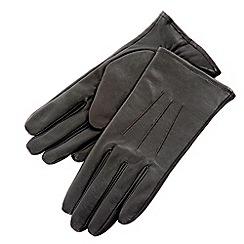 Isotoner - Black three point leather gloves