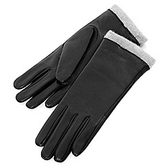 Isotoner - Black cashmere lined gloves