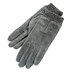 Isotoner - Grey marl cuff gloves