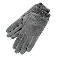 Grey Marl Cuff Gloves