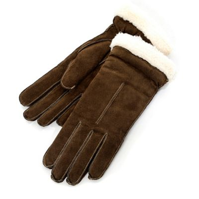 Chocolate Smooth Suede Gloves