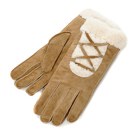Isotoner - Tan ultra soft suede gloves