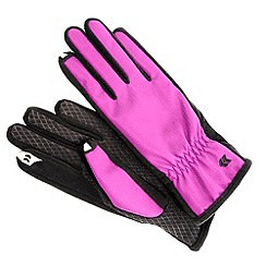 Isotoner - Pink fleece mix smartouch gloves