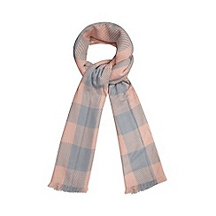 H! by Henry Holland - Pink giant checked print scarf