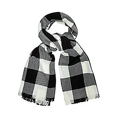 H! by Henry Holland - Black giant checked print scarf