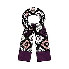 H! by Henry Holland - Purple crochet blanket scarf