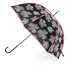 Totes - Black dotted flower print umbrella