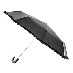 Totes - Black ruffle edge umbrella