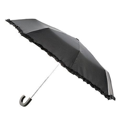 Totes - Black ruffle edge umbrella