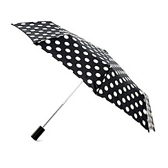 Totes - Black and white spotted umbrella