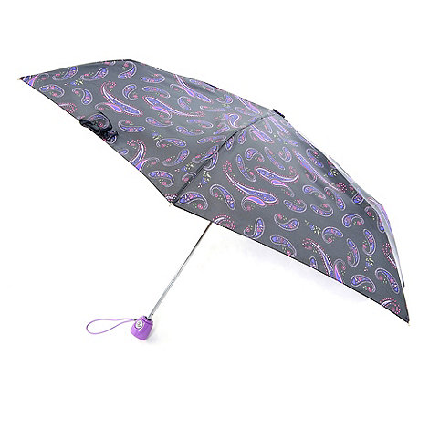 Totes - Black paisley print umbrella