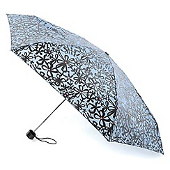 Totes - Pale blue sketchy floral umbrella
