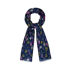 Mantaray - Navy little trees printed scarf
