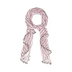 Mantaray - Pale pink bird print scarf