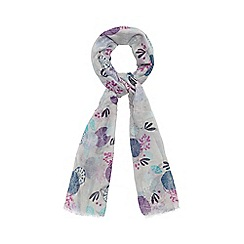 Mantaray - Pale grey circle floral scarf
