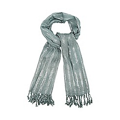 Mantaray - Light green metallic scarf