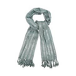 Mantaray - Light green metallic scarf