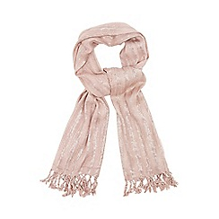 Mantaray - Light pink metallic scarf