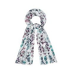 Mantaray - White seaweed print scarf