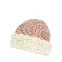 Mantaray - Pink fleece lined knitted hat