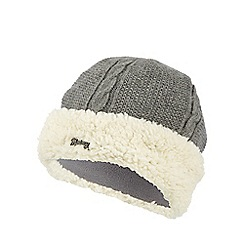 Mantaray - Dark grey cable knit hat