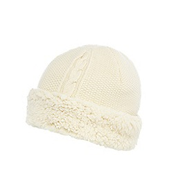 Mantaray - Cream fleece lined knitted hat