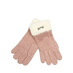 Mantaray - Pink fleece lined knitted gloves