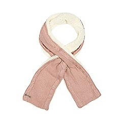 Mantaray - Pink fleece lined knitted scarf