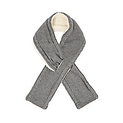 Mantaray - Grey fleece lined knitted scarf