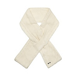Mantaray - Cream fleece lined knitted scarf