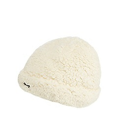 Mantaray - Cream fleece beanie hat