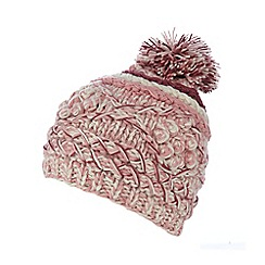 Mantaray - Pink diamond knit beanie hat