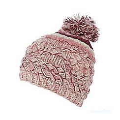 Mantaray - Pink diamond knit beanie hat