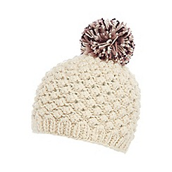 Mantaray - Cream bobble knit beanie hat