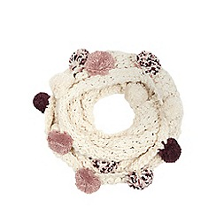 Mantaray - Cream bobble knit snood