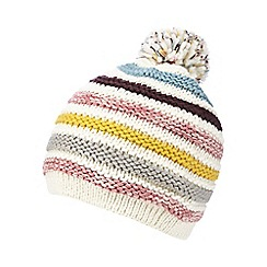 Mantaray - White striped knit hat