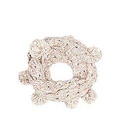 Mantaray - Pink basket weave knitted snood