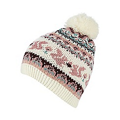 Mantaray - Pink animal Fair Isle hat