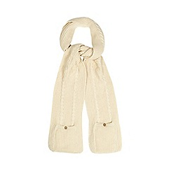 Mantaray - Cream fleece lined pocket scarf
