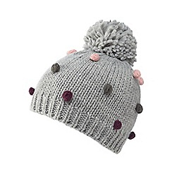 Mantaray - Grey multi bobble beanie