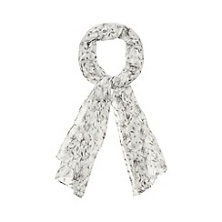 The Collection - Grey floral print scarf