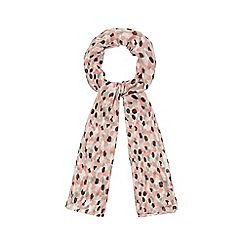 The Collection - Pink spot print scarf