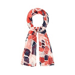 The Collection - Multicoloured brushstroke print scarf