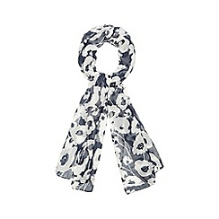 The Collection - Navy poppy print scarf